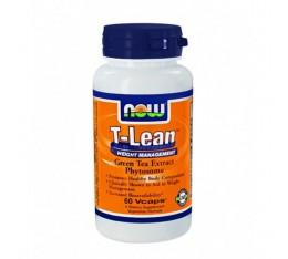 NOW - T-Lean ™ Weight Management / 60 VCaps. Хранителни добавки, Отслабване, Зелен чай