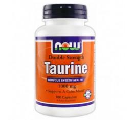 NOW - Taurine 1000mg. / 100 Caps. Хранителни добавки, Аминокиселини, Таурин