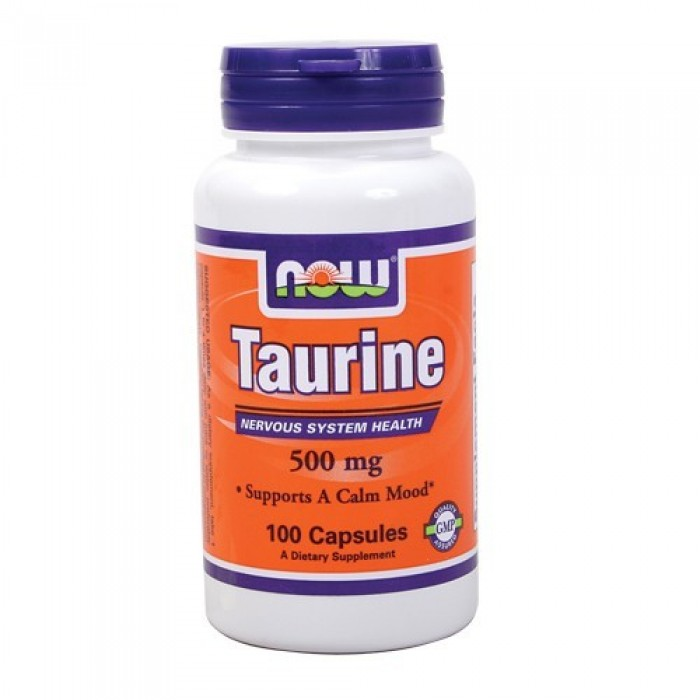 NOW - Taurine 500mg. / 100 Caps.
