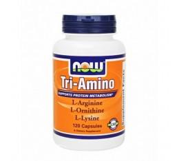 NOW - Tri-Amino / 120 Caps. Хранителни добавки, Аминокиселини, Комплексни аминокиселини