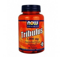 NOW - Tribulus Terrestris 1000 mg. / 90 Tabs. Хранителни добавки, Стимулатори за мъже, Трибулус-Терестрис