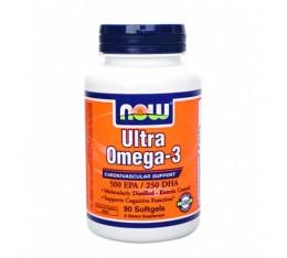 NOW - Ultra Omega 3 Fish Oil / 90 Softgels Хранителни добавки, Мастни киселини, Омега 3-6-9