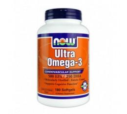 NOW - Ultra Omega 3 Fish Oil / 180 Softgels Хранителни добавки, Мастни киселини, Омега 3-6-9