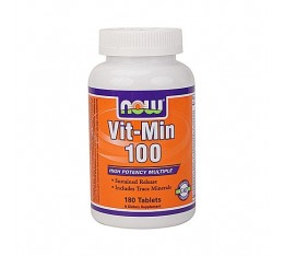 NOW - Vit-Min 100 Multiple (Sustained Release High Potency) / 60 Tabs. Хранителни добавки, Витамини, минерали и др., Мултивитамини