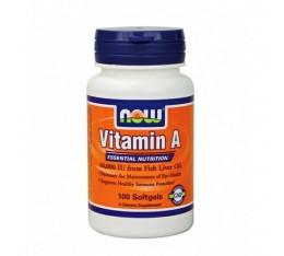NOW - Vitamin A 10,000 IU / 100 Softgels Хранителни добавки, Витамини, минерали и др., Витамин A