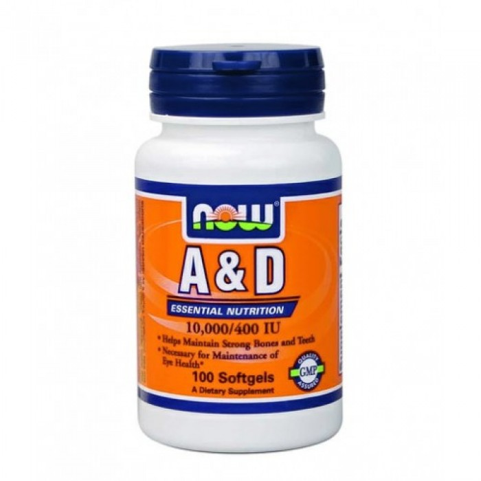 NOW - Vitamin A 10000 IU & D 400 IU / 100 Softgels