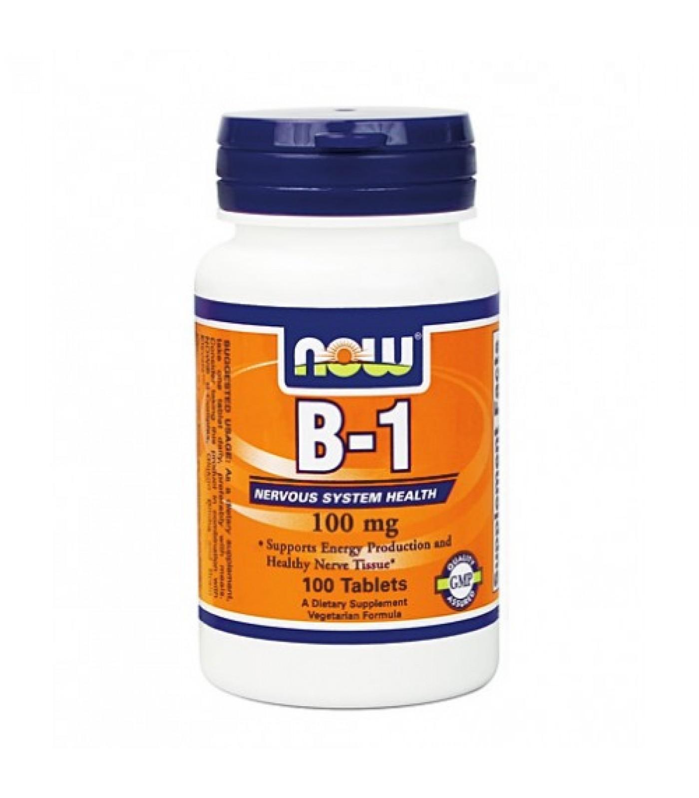 NOW - Vitamin B-1 (Thiamine) 100mg. / 100 Tabs.