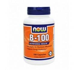 NOW - Vitamin B-100 / 100 Caps. Хранителни добавки, Витамини, минерали и др., Витамин B