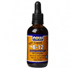 NOW - B-12 Complex Liquid / 60 ml. Хранителни добавки, Витамини, минерали и др., Витамин B