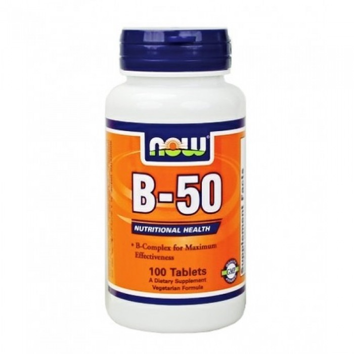 Now - Vitamin B-50 / 100 caps.