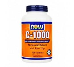 NOW - Vitamin C-1000 / 100 Tabs. Хранителни добавки, Витамини, минерали и др., Витамин C