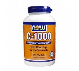 NOW - Vitamin C-1000 / 250 Tabs. Хранителни добавки, Витамини, минерали и др., Витамин C