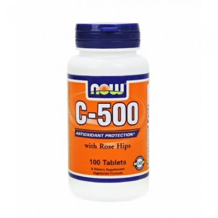 NOW - Vitamin C-500 (Rose Hips) / 100 Tabs.