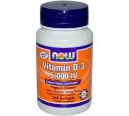 NOW - Vitamin D-3  Хранителни добавки, Витамини, минерали и др., Витамин D