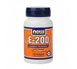 NOW - Vitamin E-200 IU (Mixed Tocopherols) / 100 Softgels Хранителни добавки, Витамини, минерали и др., Витамин E