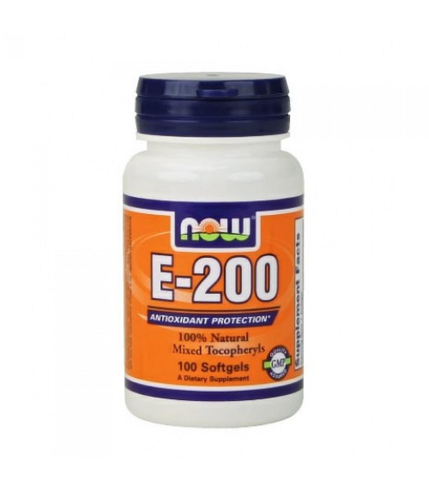 NOW - Vitamin E-200 IU (Mixed Tocopherols) / 100 Softgels