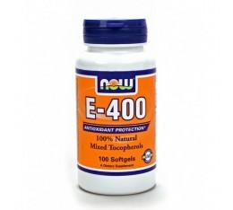 NOW - Vitamin E-400 IU (Mixed Tocopherols) / 100 Softgels Хранителни добавки, Витамини, минерали и др., Витамин E