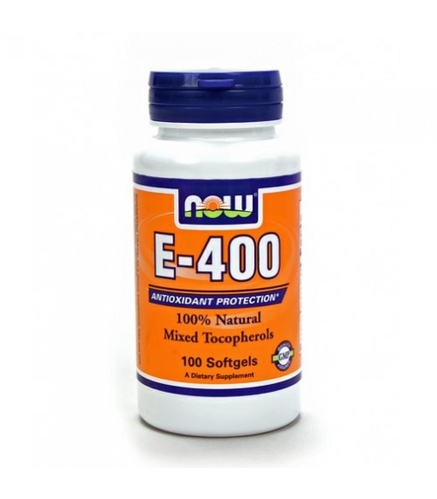 NOW - Vitamin E-400 IU (Mixed Tocopherols) / 100 Softgels