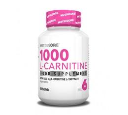 Nutricore - 1000 L-Carnitine / 60 Tabs. Хранителни добавки, Отслабване, Л-Карнитин