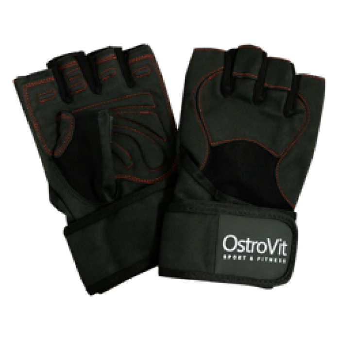 OstroVit - Men's Training Gloves with Wristwraps / Мъжки тренировъчни ръкавици с накитници