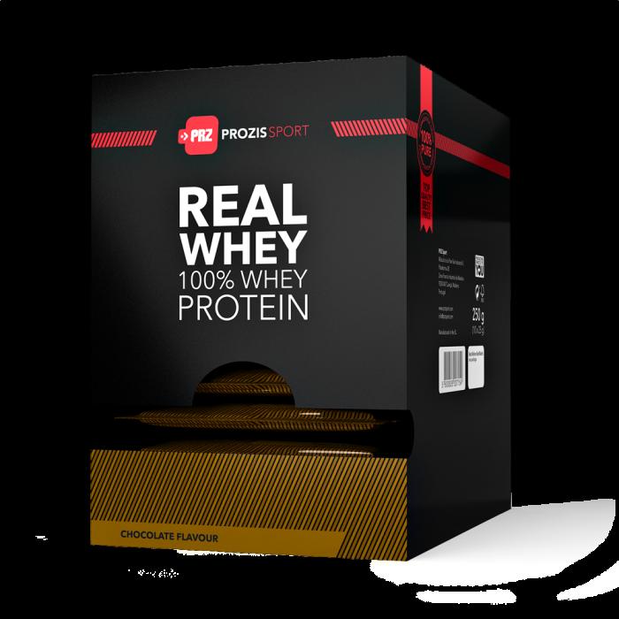 Prozis - 100% Real Whey Protein Sachets / 10 x 25g.