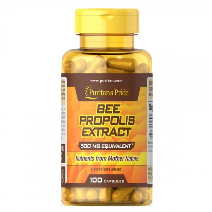 Puritan's Pride - Bee Propolis 500 mg / 100 таблетки​