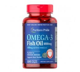 ОМЕГА-3 Рибено масло 1000 mg (300 mg активно Omega-3),  100 софтгел капсули