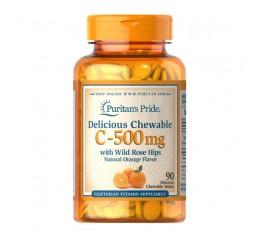ВИТАМИН C - 500 mg със ШИПКА ,90 дъвчащи се таблетки със захар