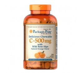 ВИТАМИН C - 500 mg със ШИПКА, 250 дъвчащи се таблетки със захар