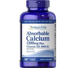 Резорбируеми Калций  с Витамин Д3 , 100 софтгел капсули