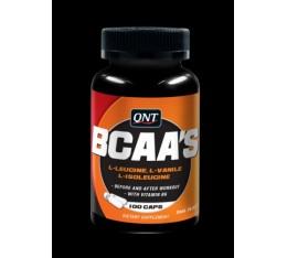 QNT - Bcaa's + Vitamine B-6 / 100 Caps. Хранителни добавки, Аминокиселини, Разклонена верига (BCAA)