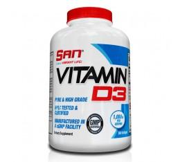 SAN - Vitamin D3 / 180 softgels. Хранителни добавки, Витамини, минерали и др., Витамин D
