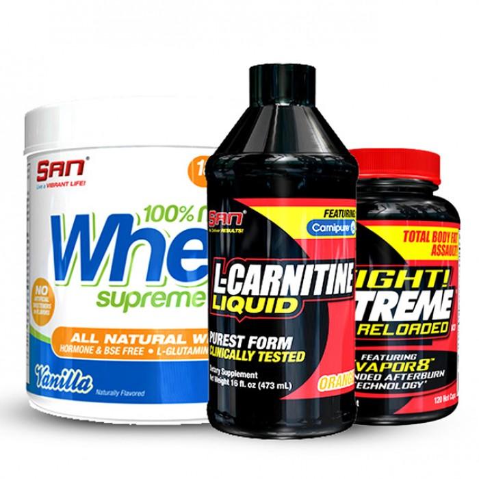 SAN - протеин + течен л-карнитин + фетбърнър Tight! Xtreme