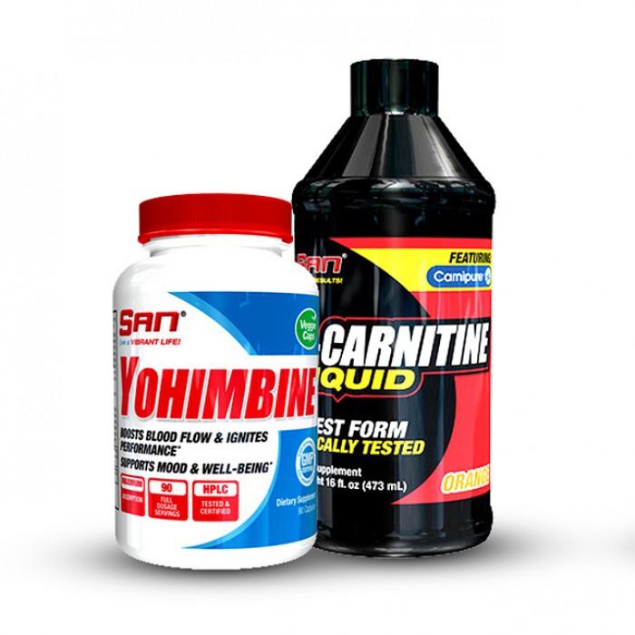 SAN - йохимбин + течен л-карнитин