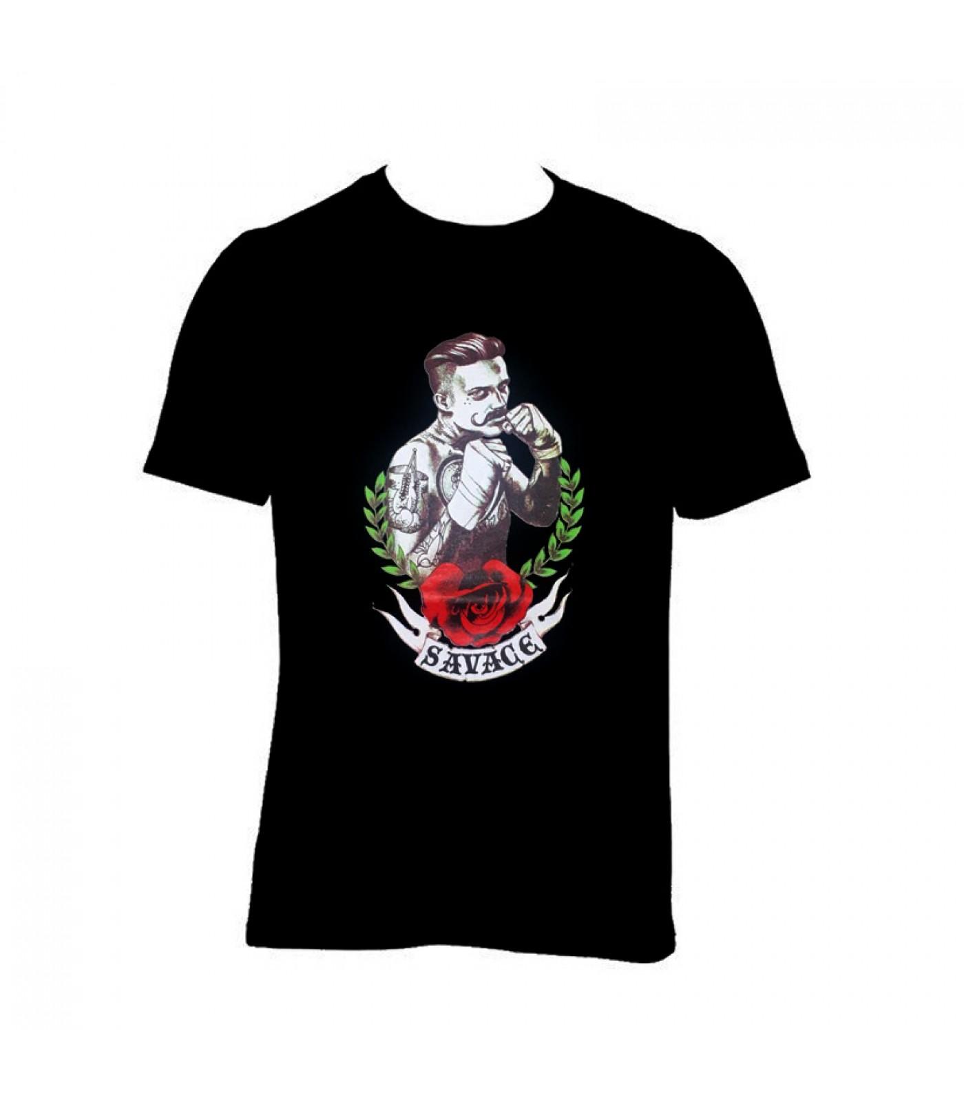 Тениска Savage 13 - черна