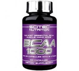 Scitec - BCAA 1000 / 100 caps. Хранителни добавки, Аминокиселини, Разклонена верига (BCAA)