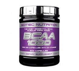 Scitec - BCAA 1000 / 300 caps. Хранителни добавки, Аминокиселини, Разклонена верига (BCAA)