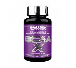Scitec - BCAA-X / 120 caps. Хранителни добавки, Аминокиселини, Разклонена верига (BCAA), ПОДАРЪЦИ, 250