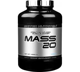 Scitec - Mass 20 / 4000 gr. Хранителни добавки, Гейнъри за покачване на тегло, Гейнъри