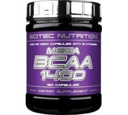 Scitec - Mega BCAA 1400 / 180 caps. Хранителни добавки, Аминокиселини, Разклонена верига (BCAA)
