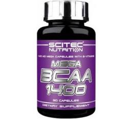 Scitec - Mega BCAA 1400 / 90 caps. Хранителни добавки, Аминокиселини, Разклонена верига (BCAA)