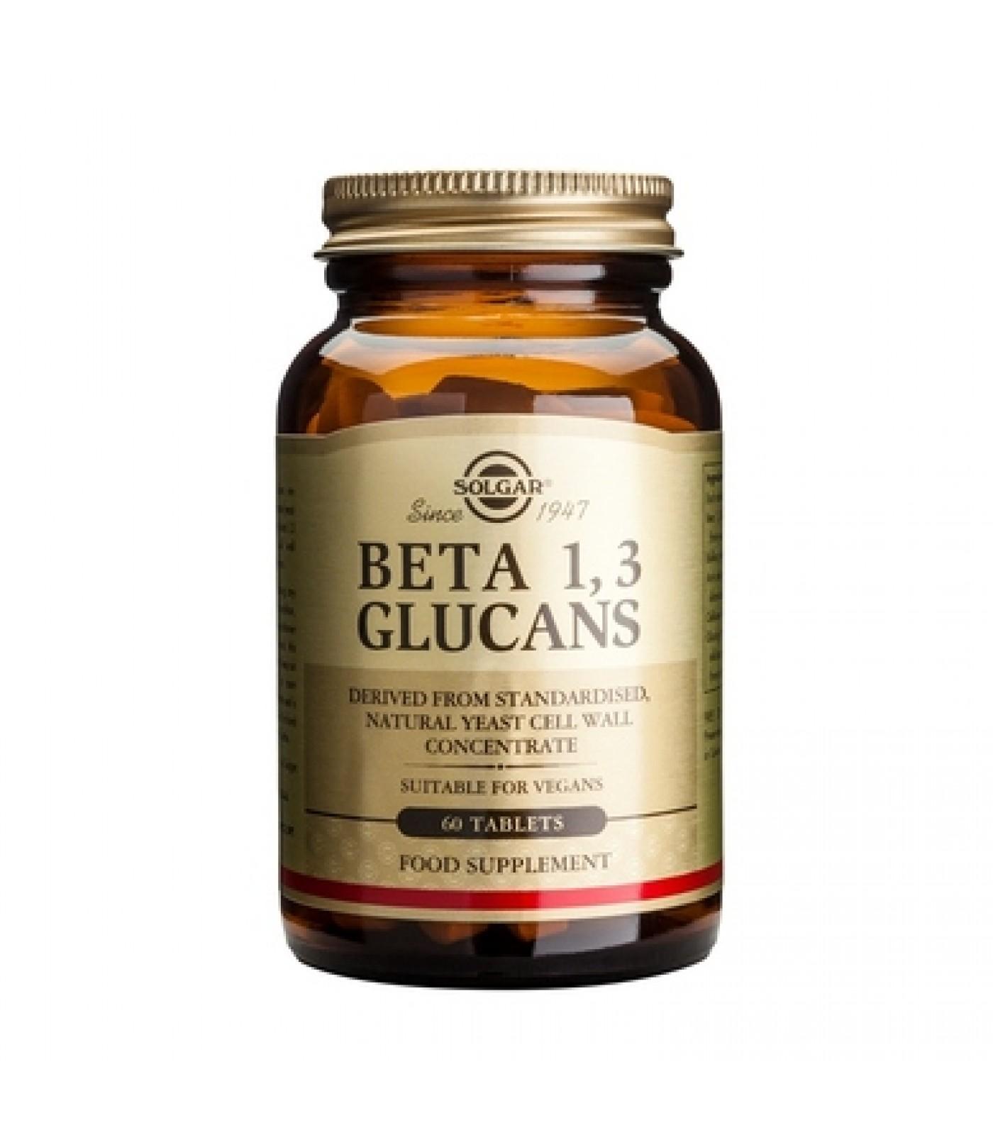 Solgar - Beta 1,3 Glucans / 60 tabs.