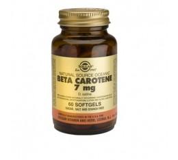 Solgar - Beta Carotene 7mg. / 60 caps. Хранителни добавки, Витамини, минерали и др., Витамин A
