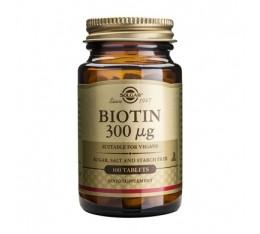 Solgar - Biotin 300mg. / 100 tabs. Хранителни добавки, Витамини, минерали и др., Витамин B