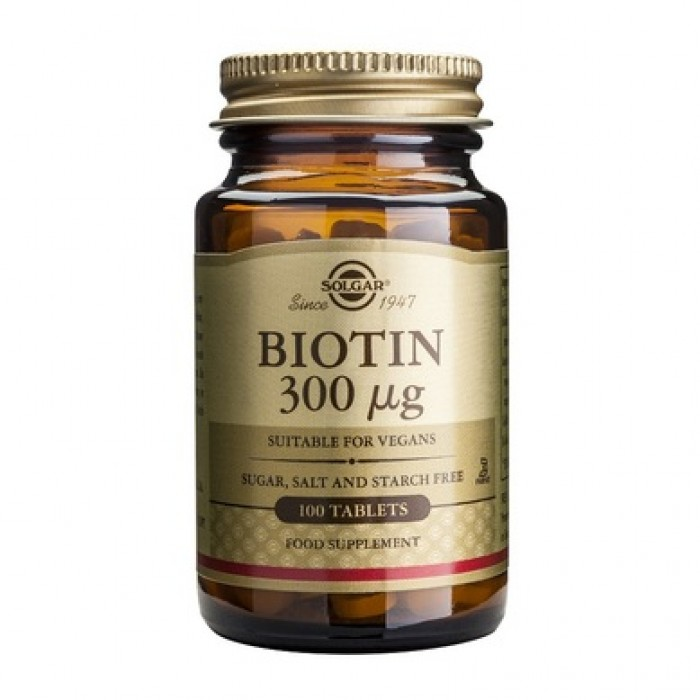 Solgar - Biotin 300mg. / 100 tabs.
