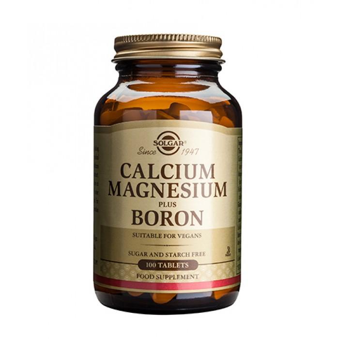 Solgar - Calcium Magnesium + Boron / 100 tabs.