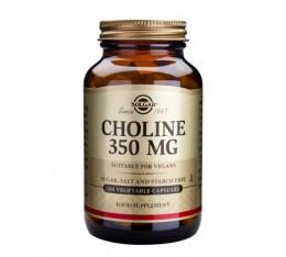 Solgar - Choline 350mg. / 100 caps. Хранителни добавки, Витамини, минерали и др., Витамин B