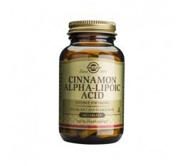 Solgar - Cinnamon-Alpha Lipoic Acid / 60 tabs. Хранителни добавки, Антиоксиданти, Витамини, минерали и др.