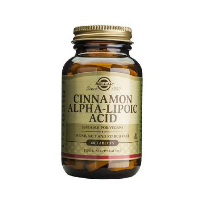 Solgar - Cinnamon-Alpha Lipoic Acid / 60 tabs.