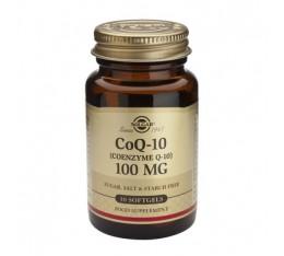 Solgar - CoQ-10 100mg. / 30 softgels. Хранителни добавки, Антиоксиданти, Коензим Q10